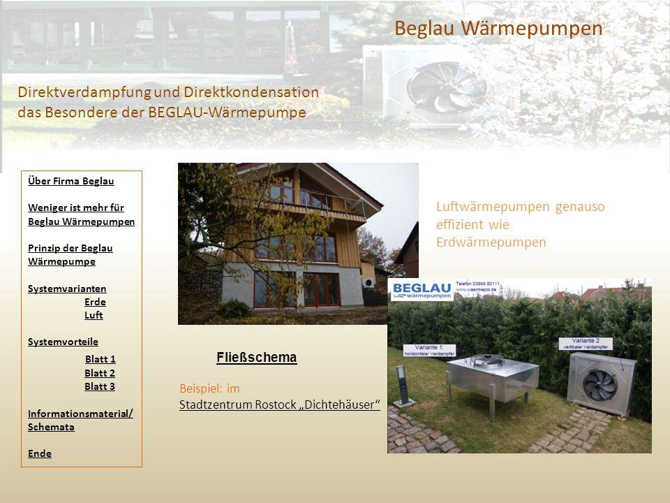 Beglau Wärmepumpen Direktverdampfung und Direktkondensation das Besondere der BEGLAU-Wärmepumpe. Über Firma Beglau.