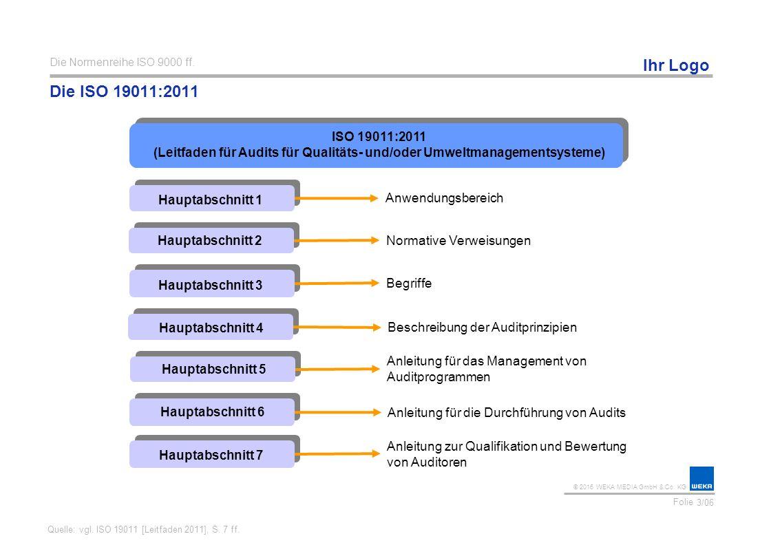 Die Normenreihe ISO 9000 ff. Die ISO 19011:2011.