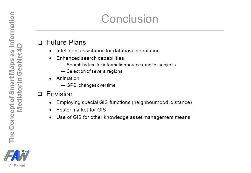 Conclusion Future Plans Envision