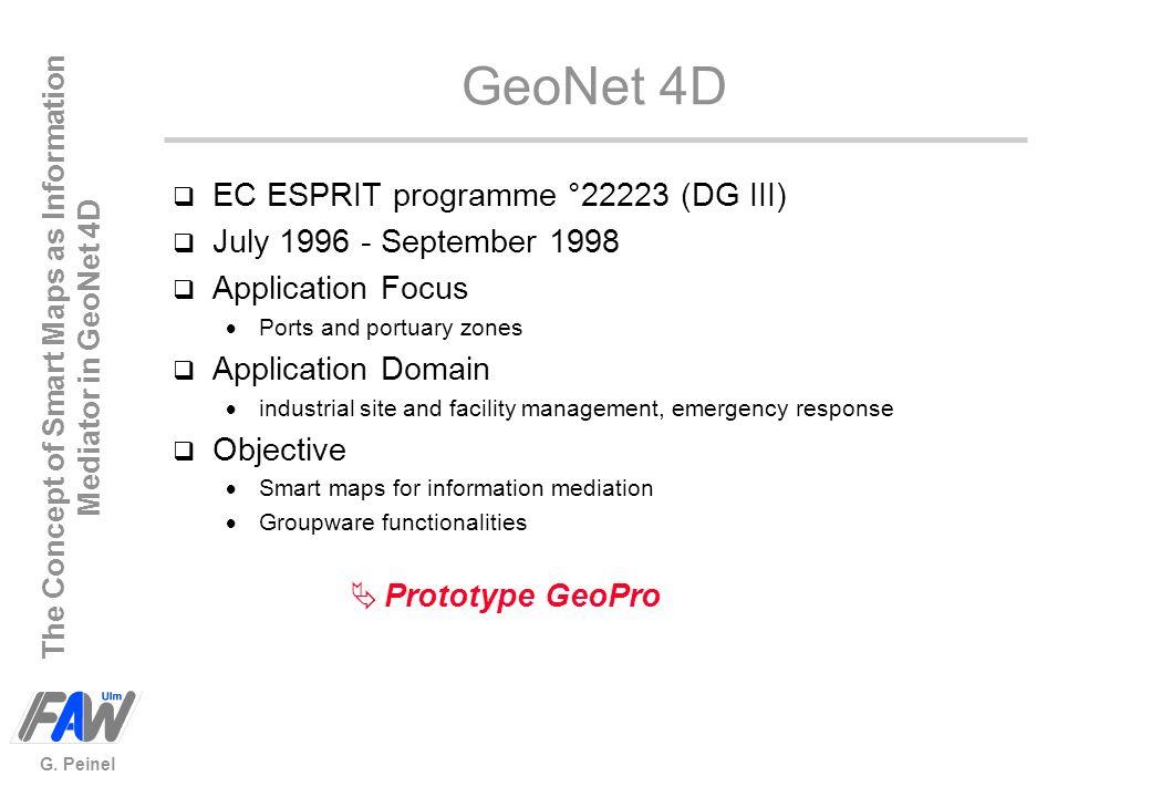 GeoNet 4D EC ESPRIT programme °22223 (DG III)