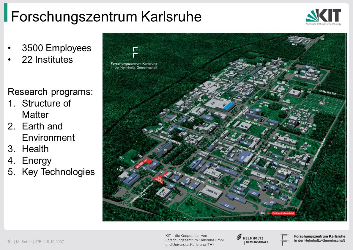 Forschungszentrum Karlsruhe