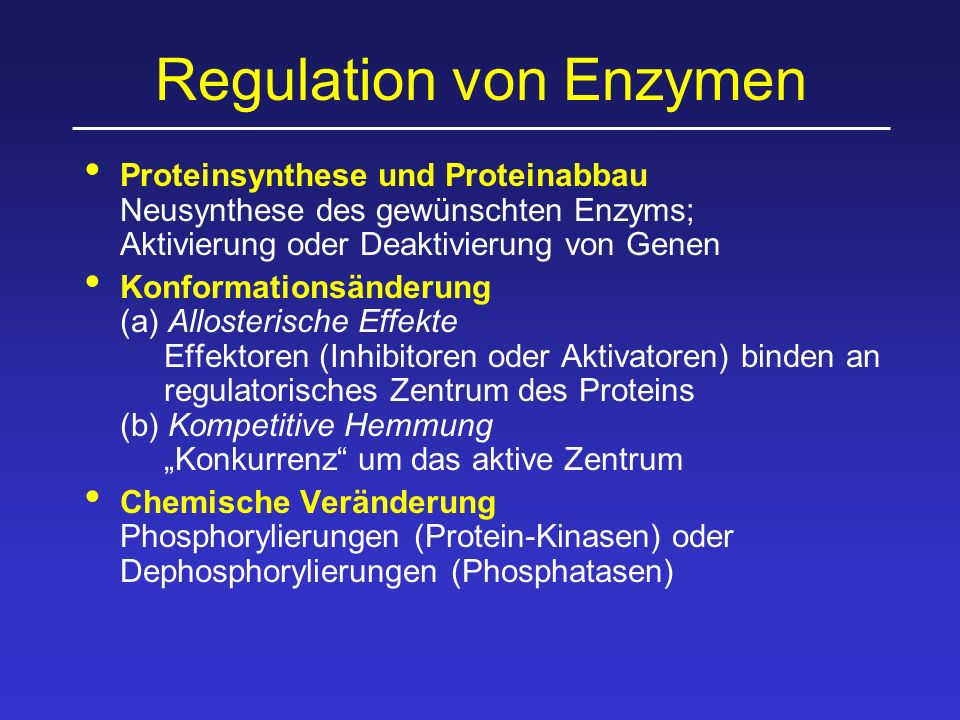 Regulation von Enzymen