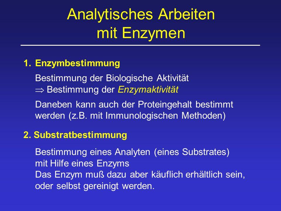 Analytisches Arbeiten mit Enzymen
