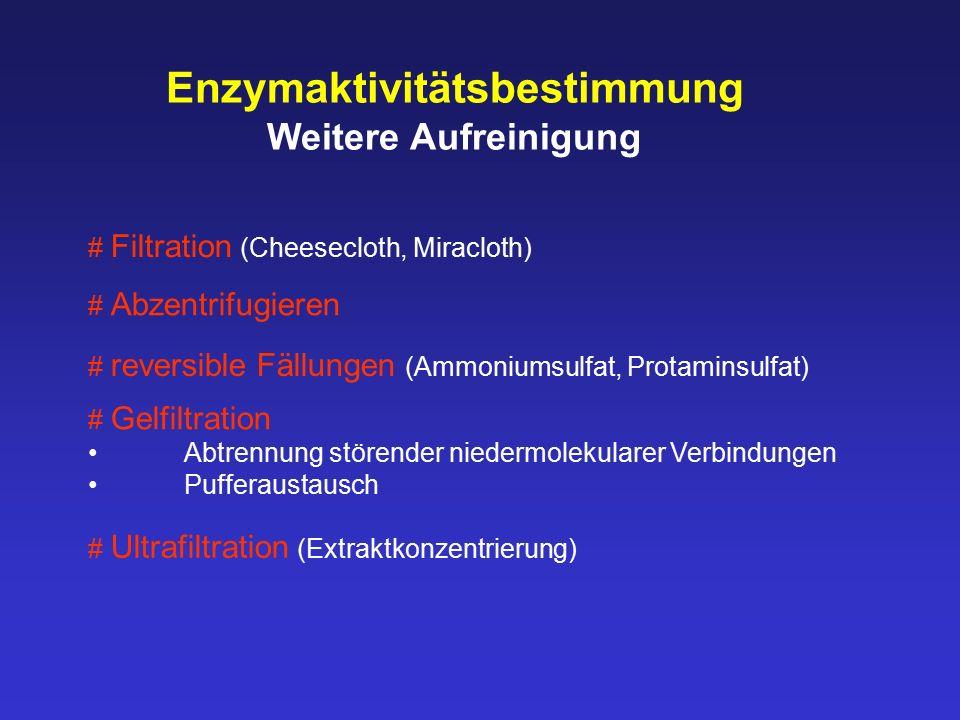 Enzymaktivitätsbestimmung