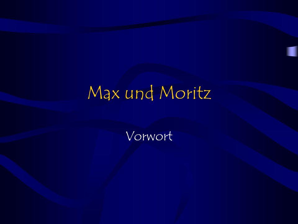 Max und Moritz Vorwort