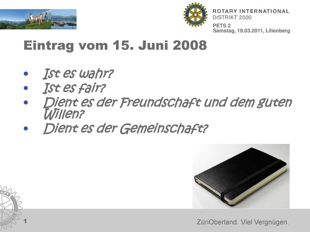 Eintrag vom 15. Juni 2008 Ist es wahr Ist es fair