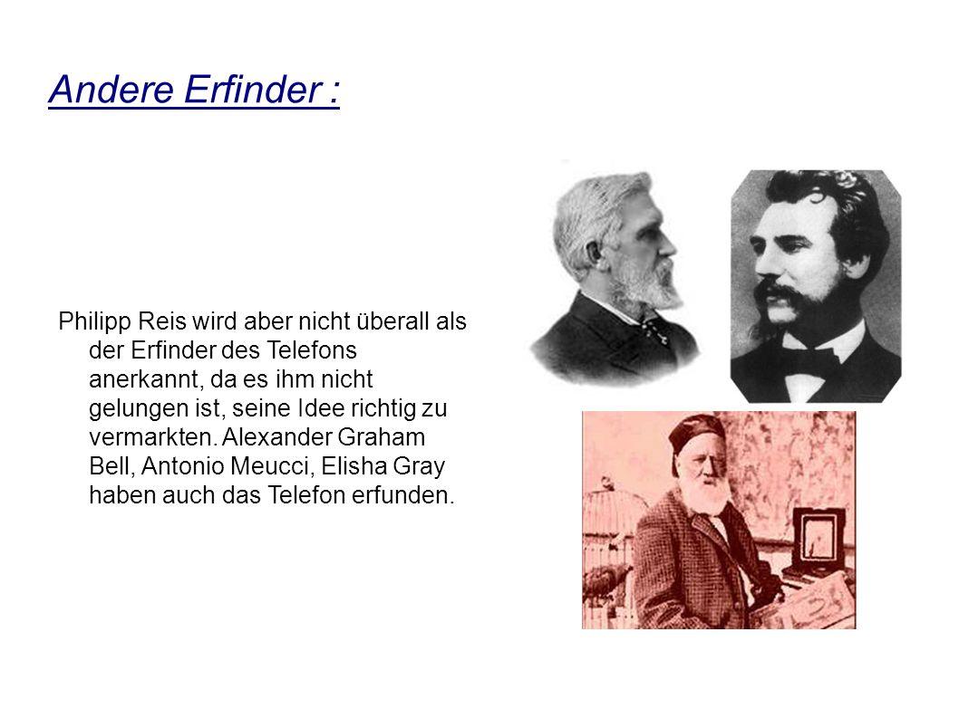 Andere Erfinder :