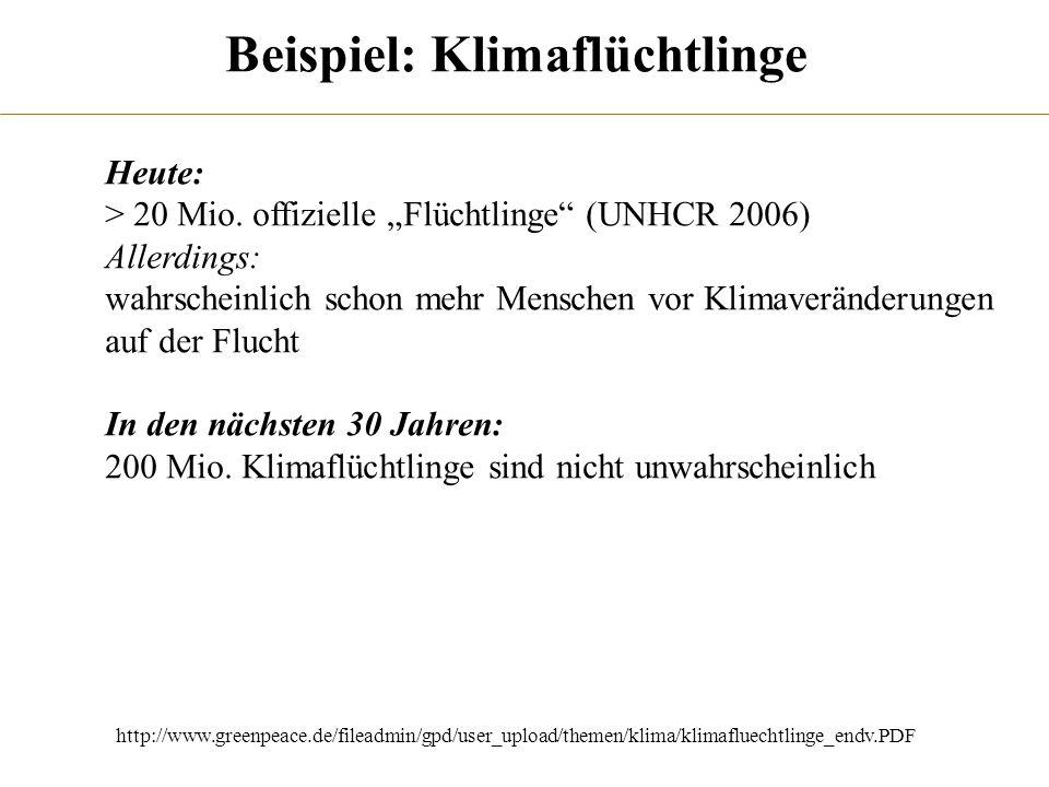 Beispiel: Klimaflüchtlinge