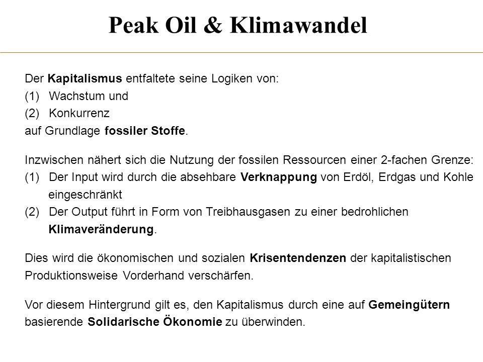 Peak Oil & Klimawandel Der Kapitalismus entfaltete seine Logiken von: