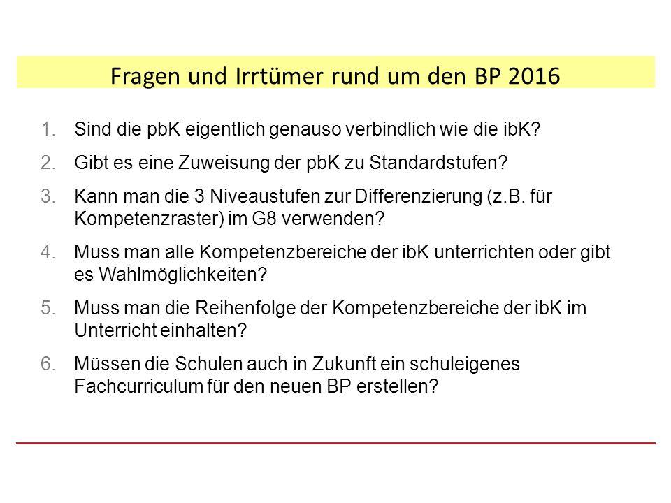 Fragen und Irrtümer rund um den BP 2016