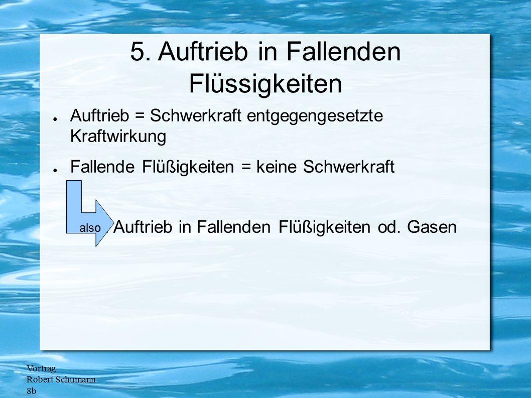 5. Auftrieb in Fallenden Flüssigkeiten