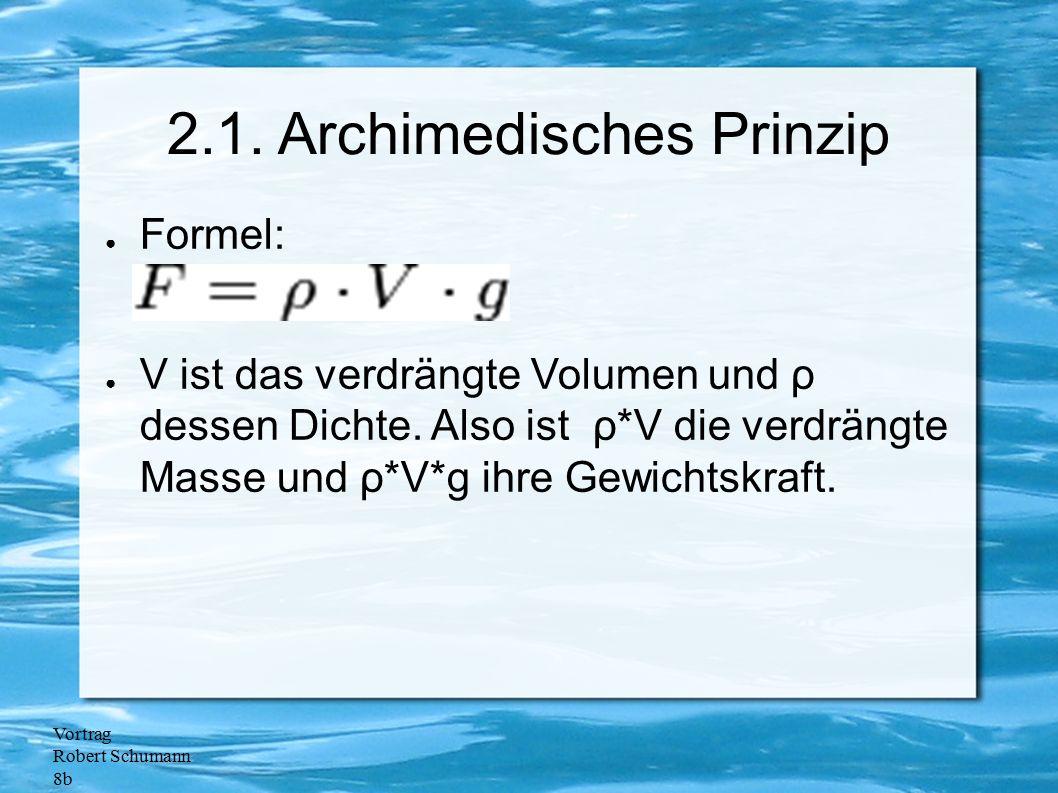 2.1. Archimedisches Prinzip