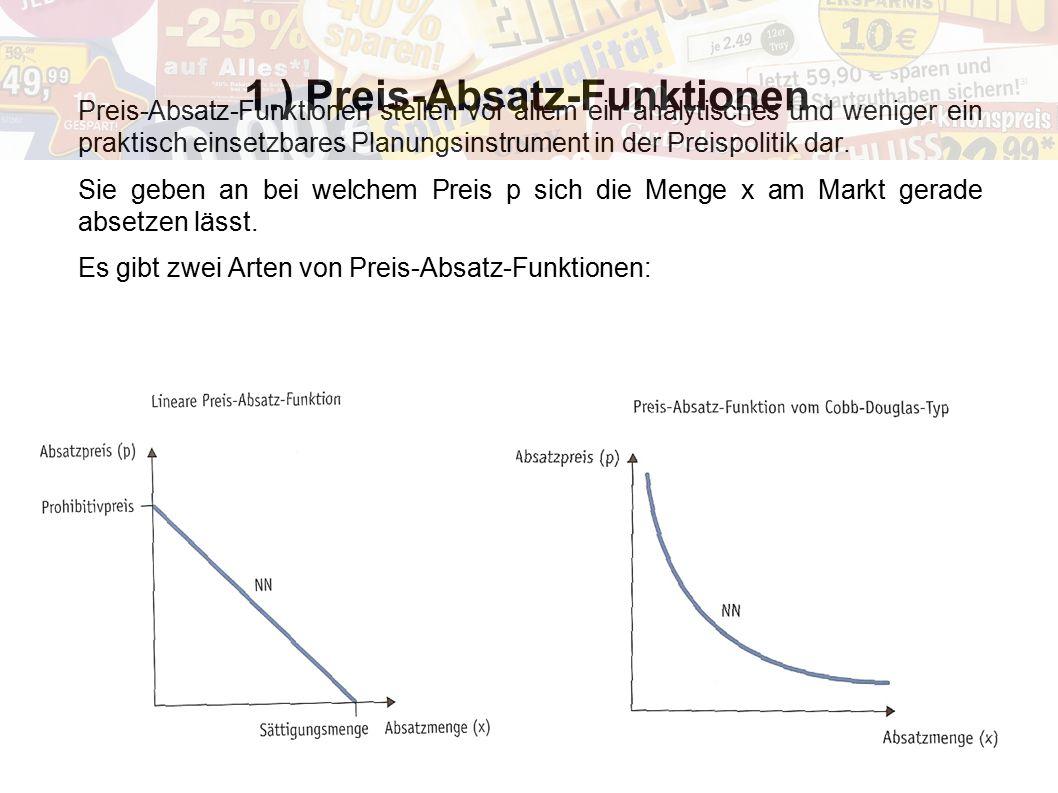 1.) Preis-Absatz-Funktionen