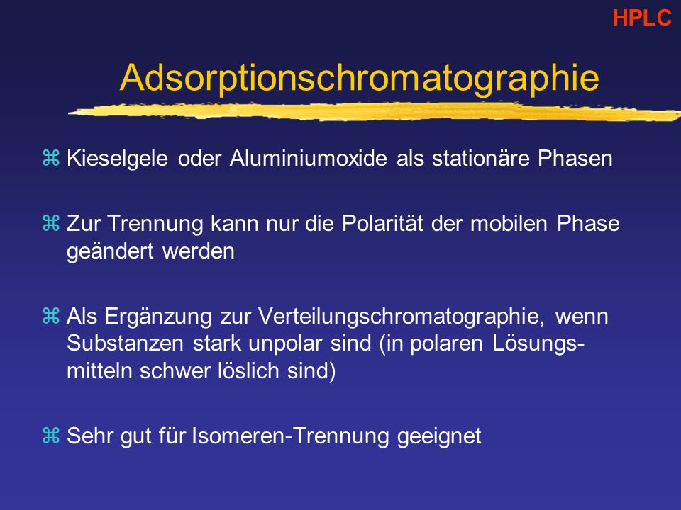 Adsorptionschromatographie