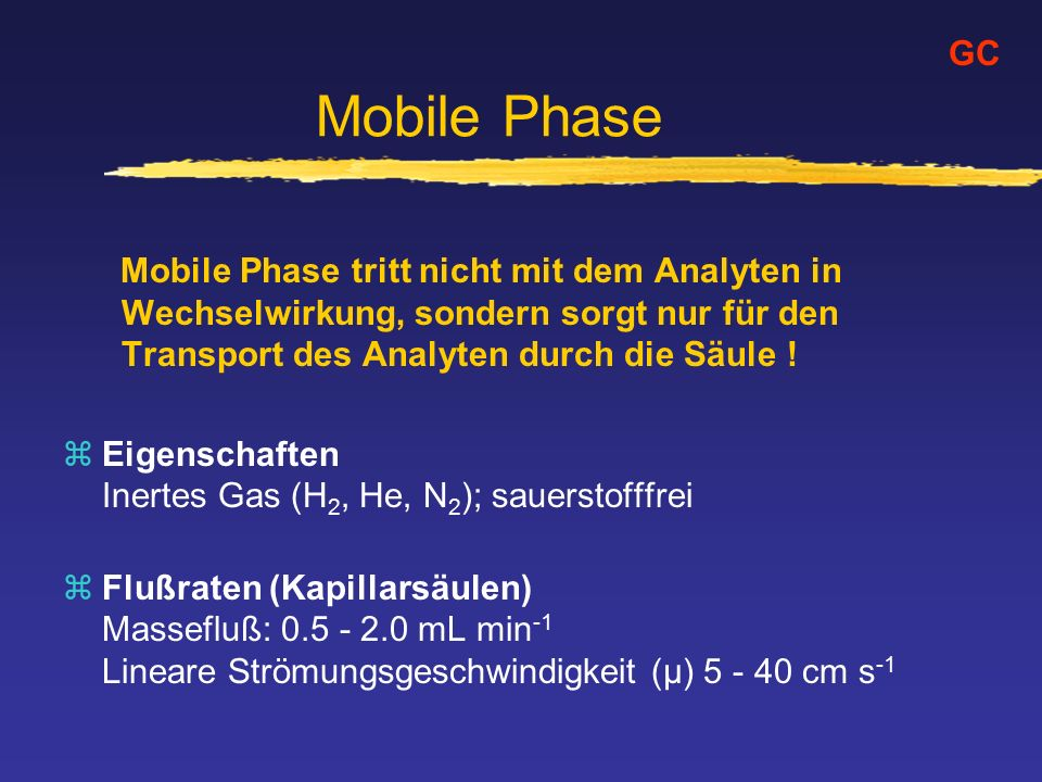 Mobile Phase GC.