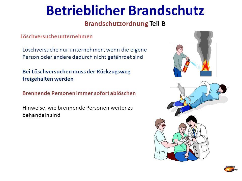 Betrieblicher Brandschutz Brandschutzordnung Teil B