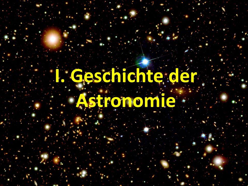 I. Geschichte der Astronomie