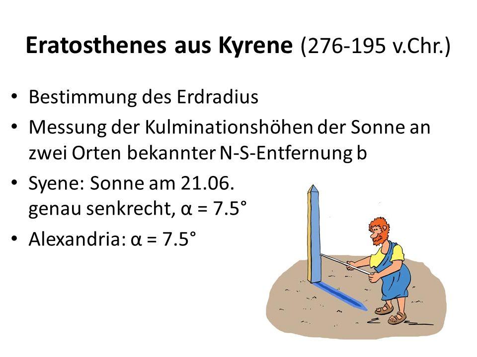 Eratosthenes aus Kyrene (276-195 v.Chr.)