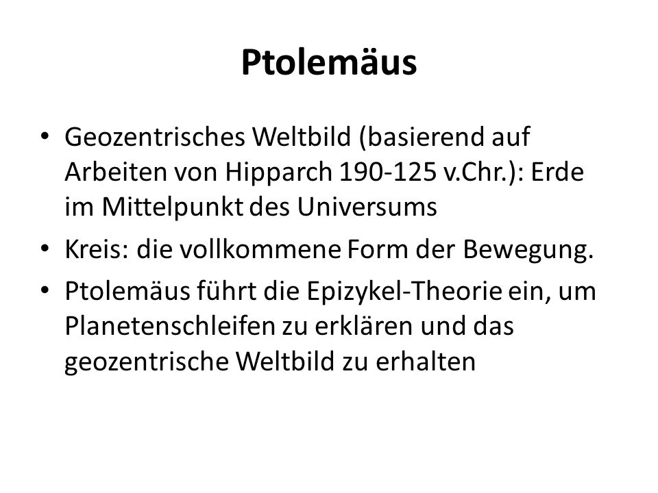 Ptolemäus Geozentrisches Weltbild (basierend auf Arbeiten von Hipparch 190-125 v.Chr.): Erde im Mittelpunkt des Universums.
