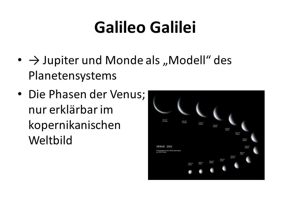 """Galileo Galilei → Jupiter und Monde als """"Modell des Planetensystems"""