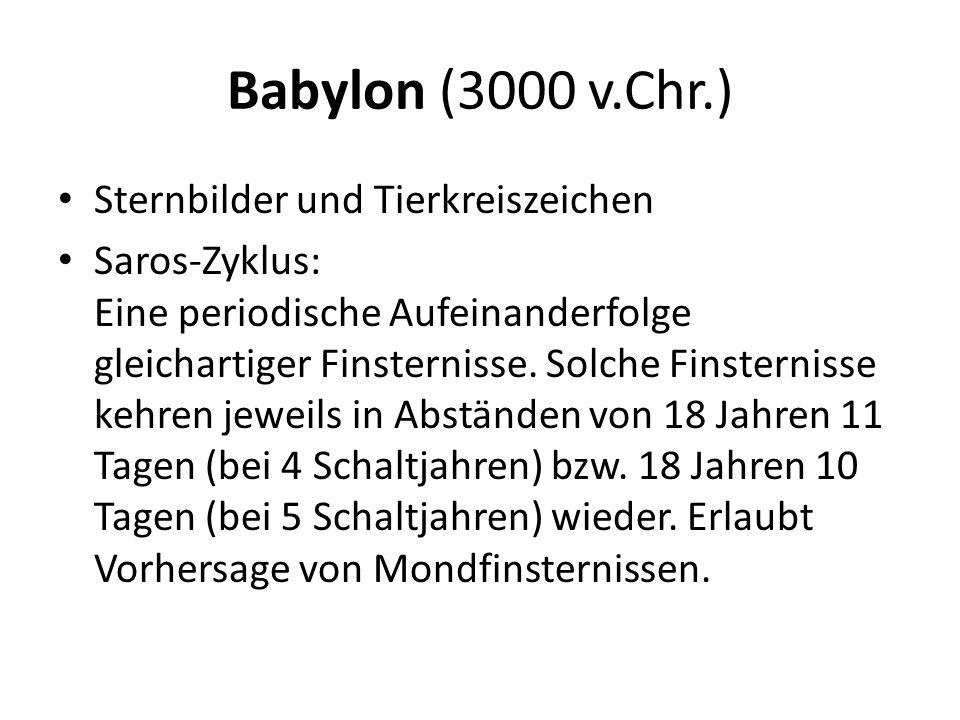 Babylon (3000 v.Chr.) Sternbilder und Tierkreiszeichen