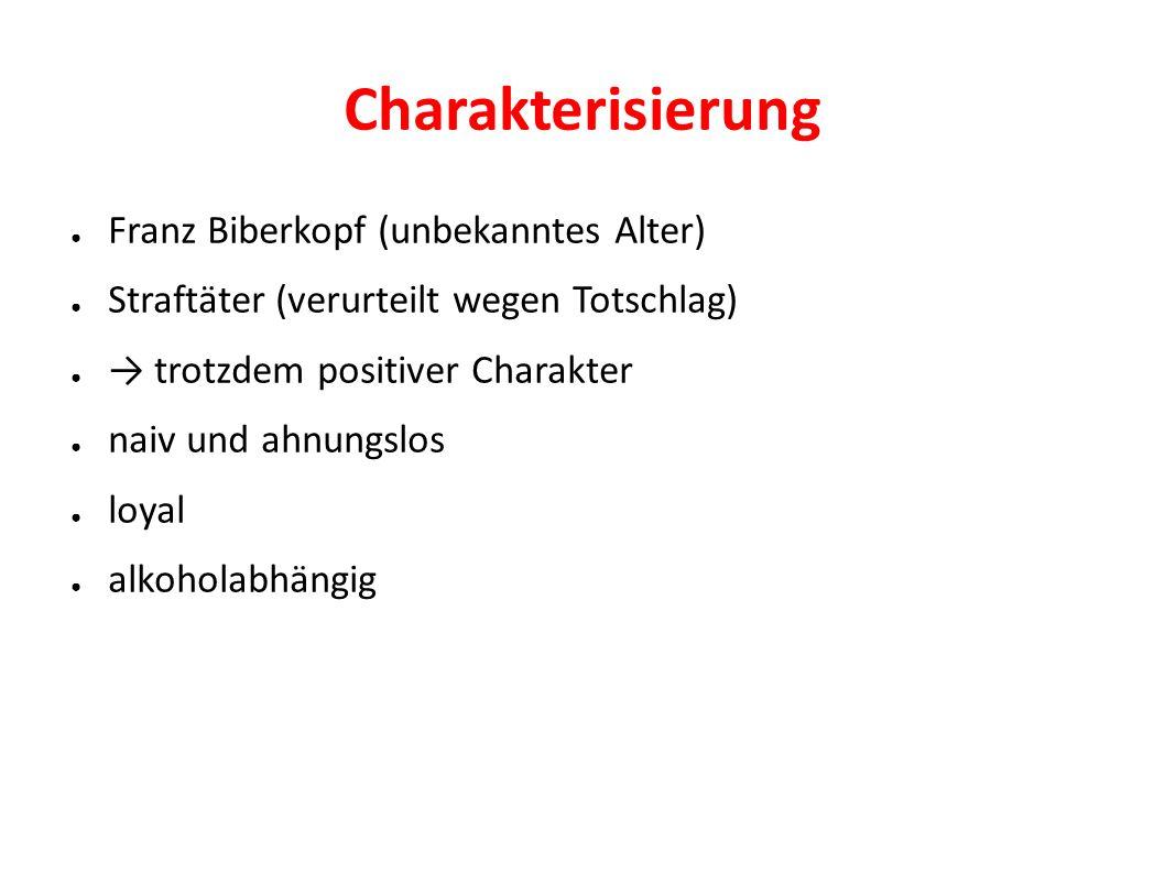 Charakterisierung Franz Biberkopf (unbekanntes Alter)