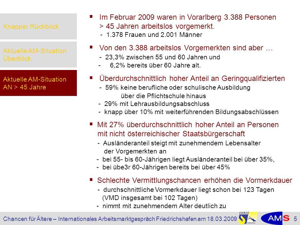 Im Februar 2009 waren in Vorarlberg 3