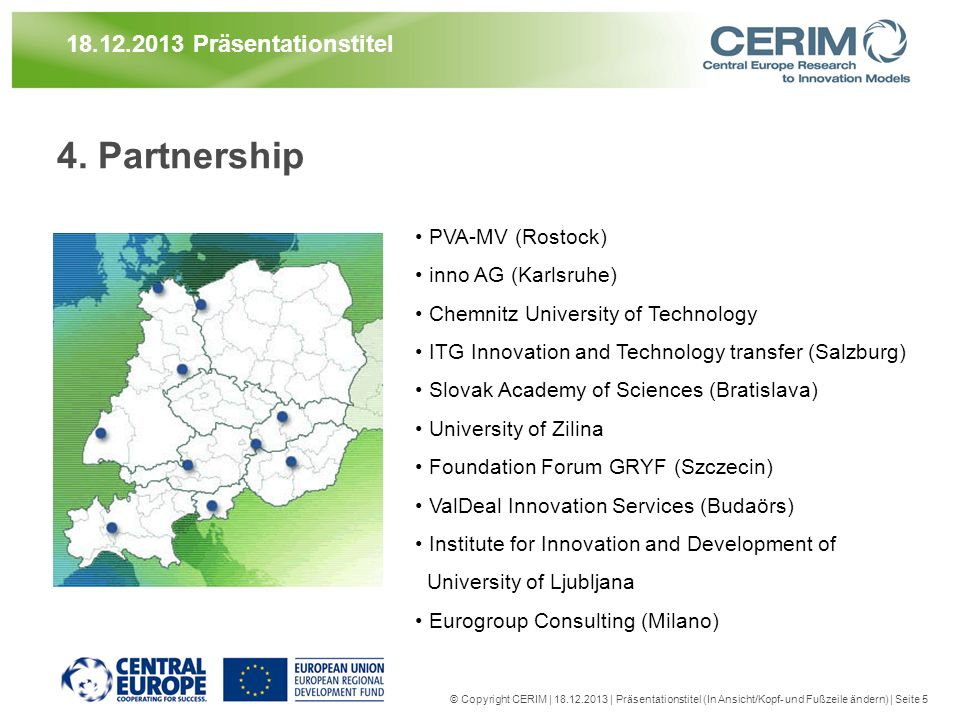 4. Partnership 21.03.2017 Präsentationstitel PVA-MV (Rostock)