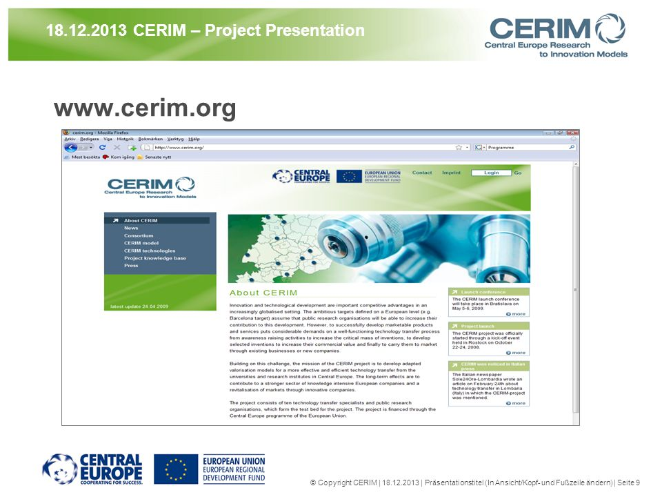 21.03.2017 CERIM – Project Presentation
