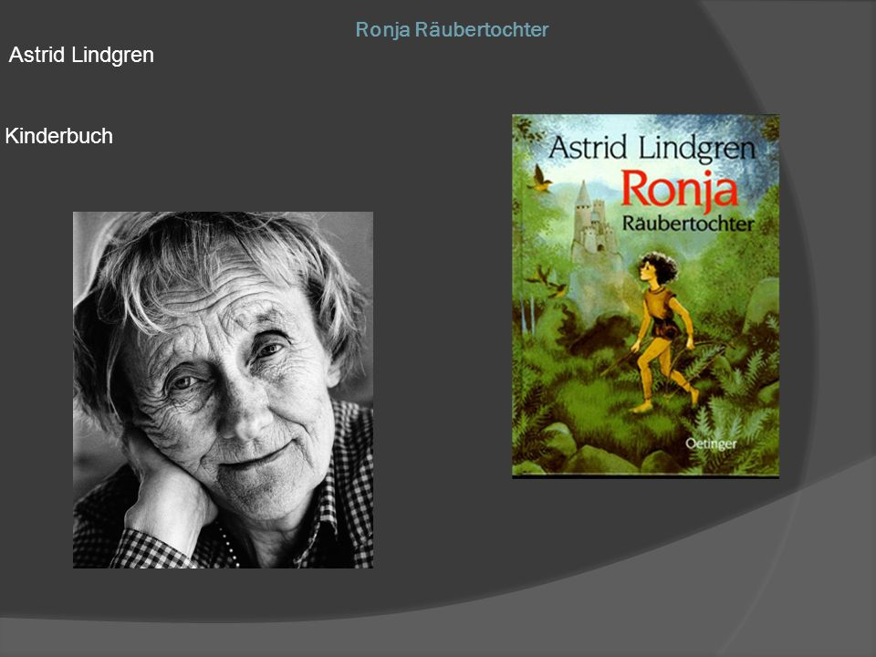 Astrid Lindgren Kinderbuch Ronja Räubertochter