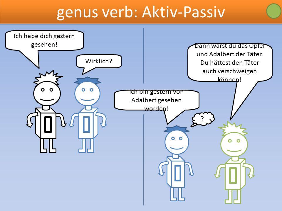 genus verb: Aktiv-Passiv