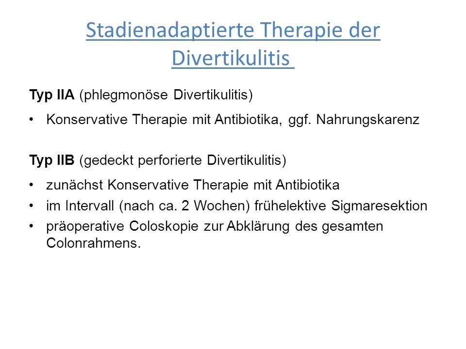 Stadienadaptierte Therapie der Divertikulitis