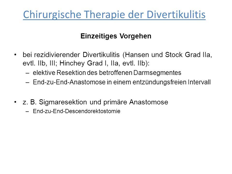 Chirurgische Therapie der Divertikulitis