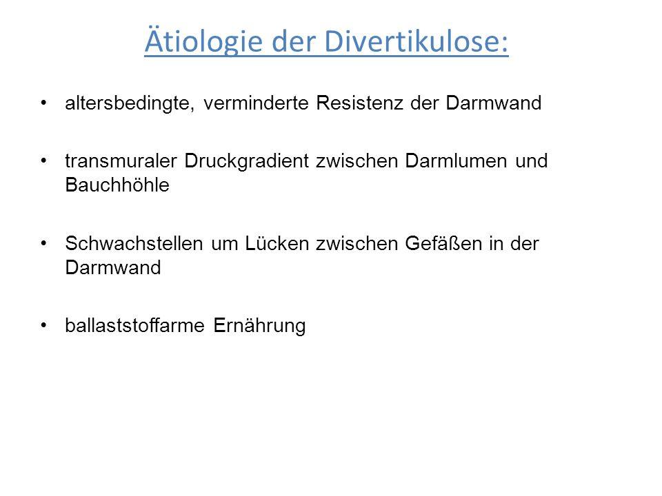 Ätiologie der Divertikulose: