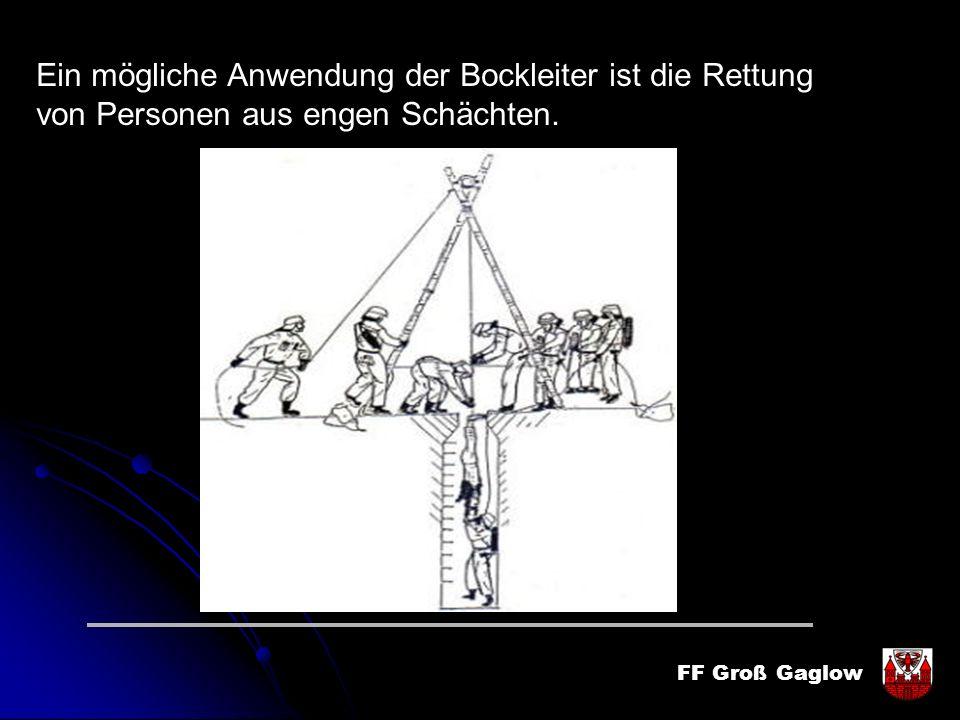 Ein mögliche Anwendung der Bockleiter ist die Rettung