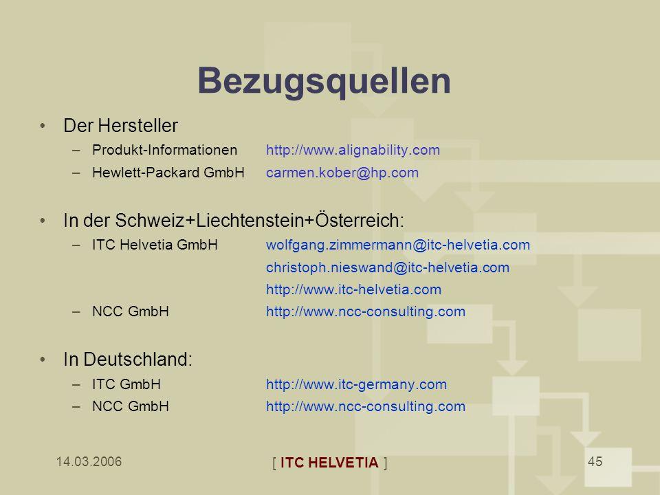 Bezugsquellen Der Hersteller In der Schweiz+Liechtenstein+Österreich: