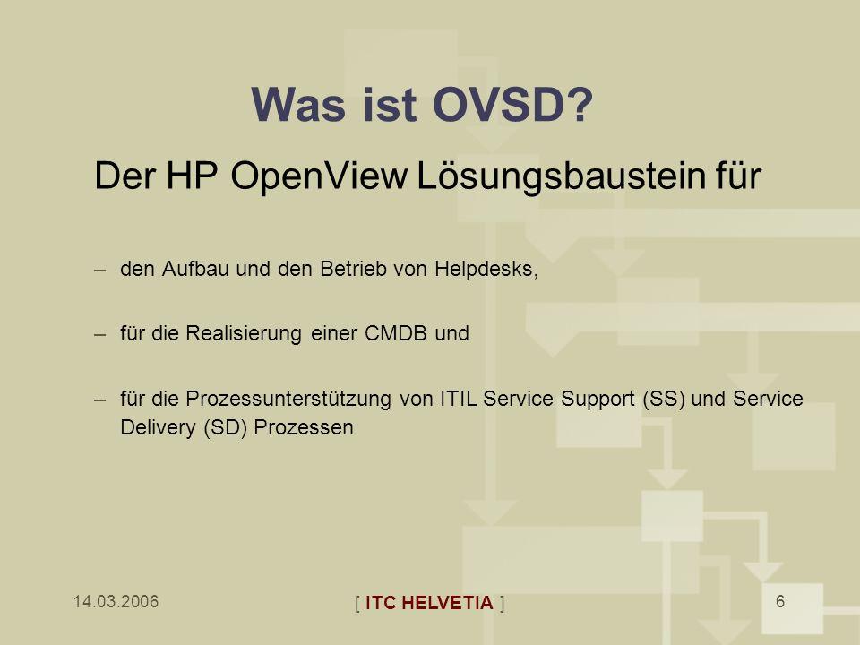 Was ist OVSD Der HP OpenView Lösungsbaustein für