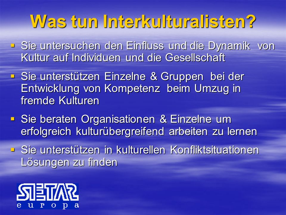 Was tun Interkulturalisten