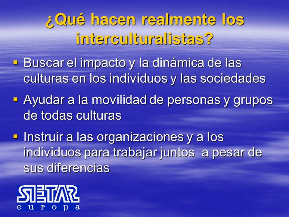 ¿Qué hacen realmente los interculturalistas