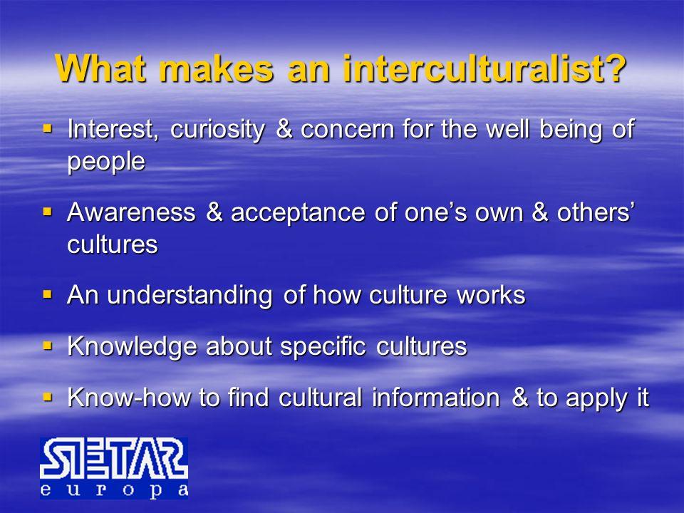 What makes an interculturalist