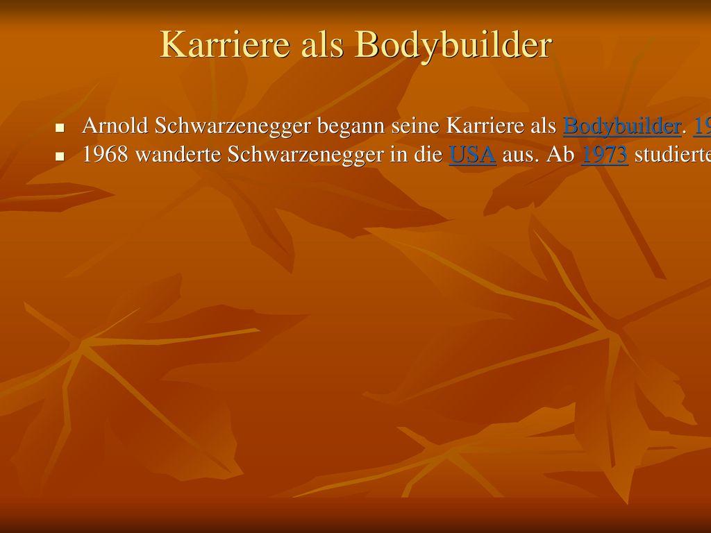Karriere als Bodybuilder