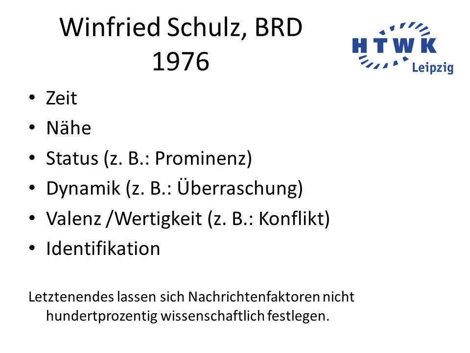 Winfried Schulz, BRD 1976 Zeit Nähe Status (z. B.: Prominenz)