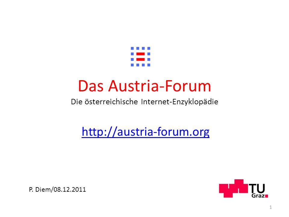 Das Austria-Forum Die österreichische Internet-Enzyklopädie