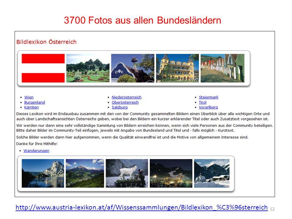 3700 Fotos aus allen Bundesländern