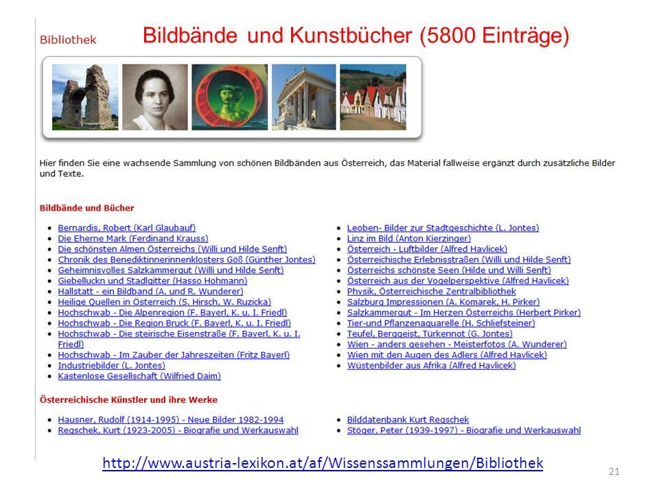 Bildbände und Kunstbücher (5800 Einträge)