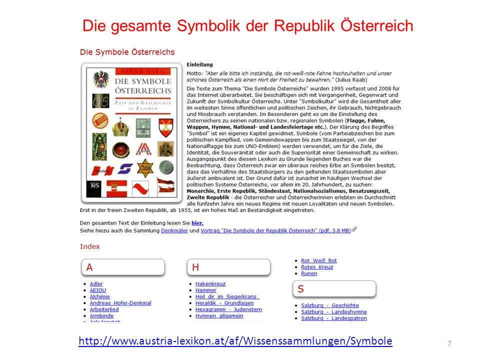 Die gesamte Symbolik der Republik Österreich