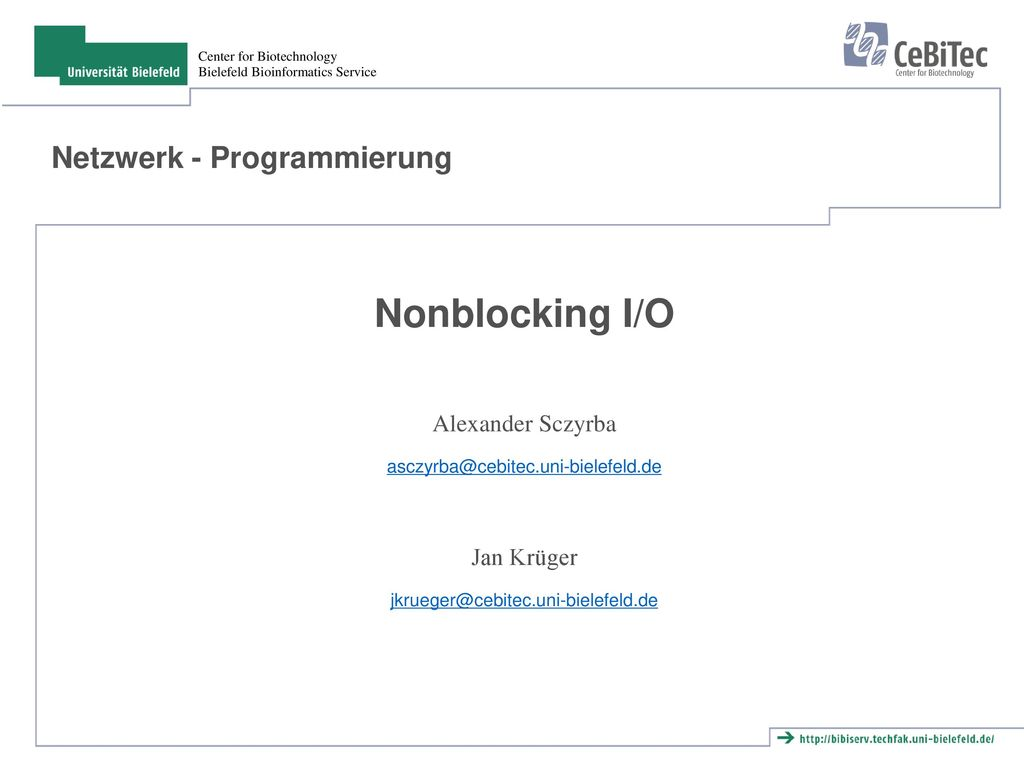Netzwerk - Programmierung
