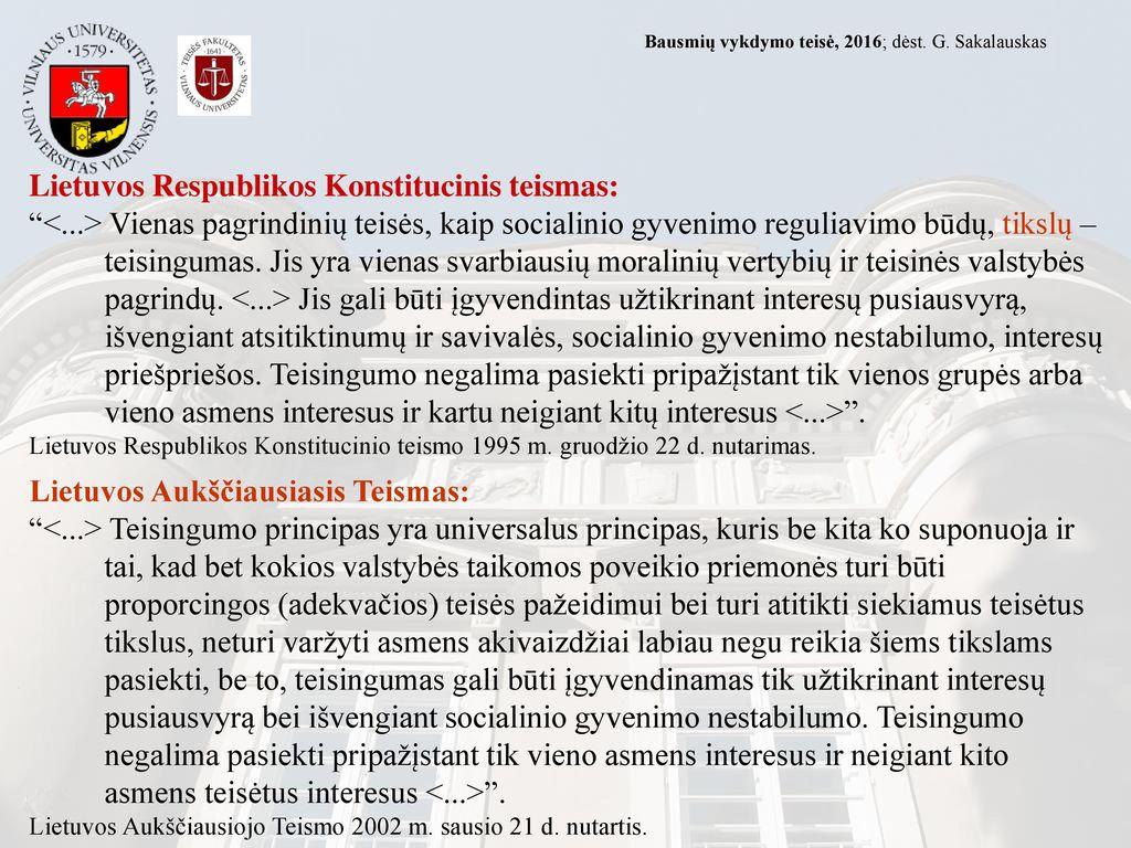 Lietuvos Respublikos Konstitucinis teismas: