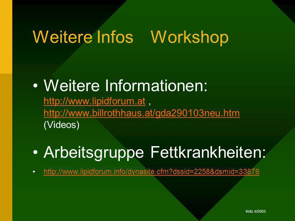 Weitere Infos Workshop