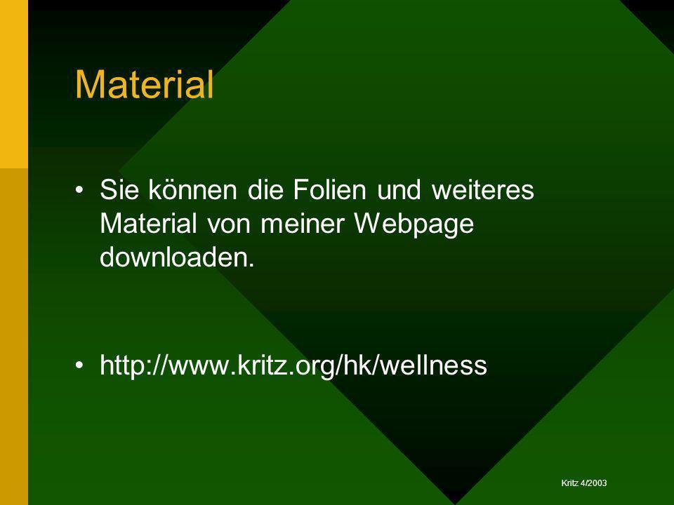Material Sie können die Folien und weiteres Material von meiner Webpage downloaden.